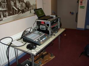 Recording on location