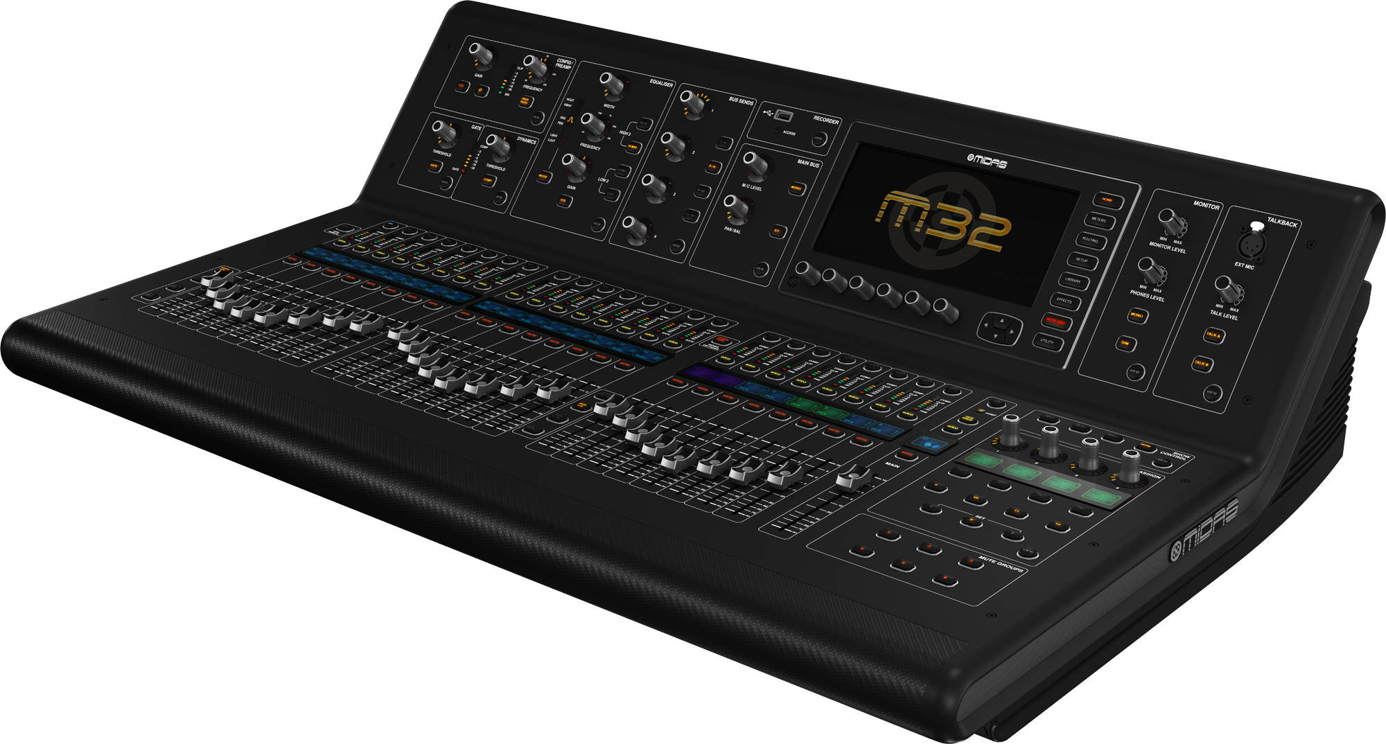 Midas M32 Hire Stage and Studio Services Telford Shrewsbury Midalnds