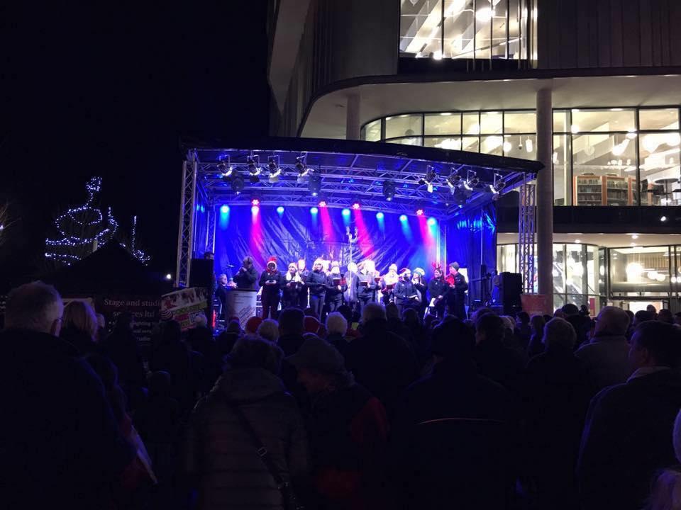 carol concert christmas lights hire sound