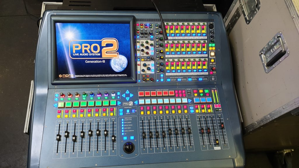Midas Pro2C. One of our consoles