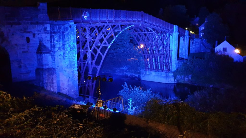 Stage and Studio Services project - Iron Bridge lighting